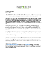 Insect Shield® Reclaims full Distribution Management, Product Development, Sales and Marketing for the Insect Shield for Pets Product Line
