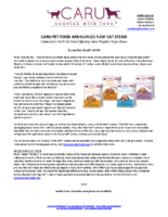 Caru Pet Food Announces New Cat Stews