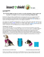 Insect Shield® Cooling Dog Apparel Combines Innovative Jade-Infused Climate Control and Repellent Technologies to Reduce Seasonal Overheating and Bug Bite Risks